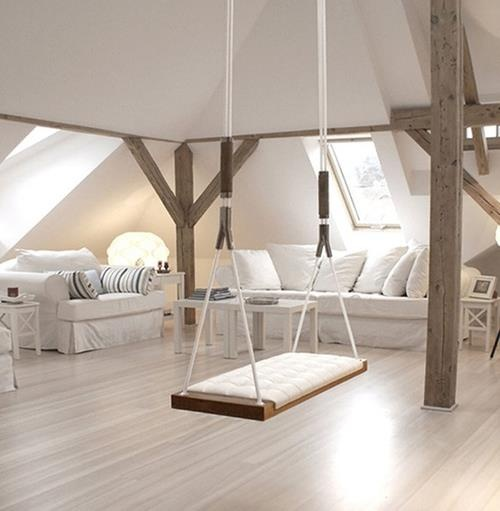 Inspire Creativity And Laughter With A Swing In The House :). Swing Inside Bench ...