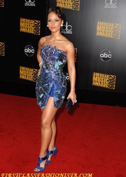 Alicia Keys at the 2009 American Music Awards