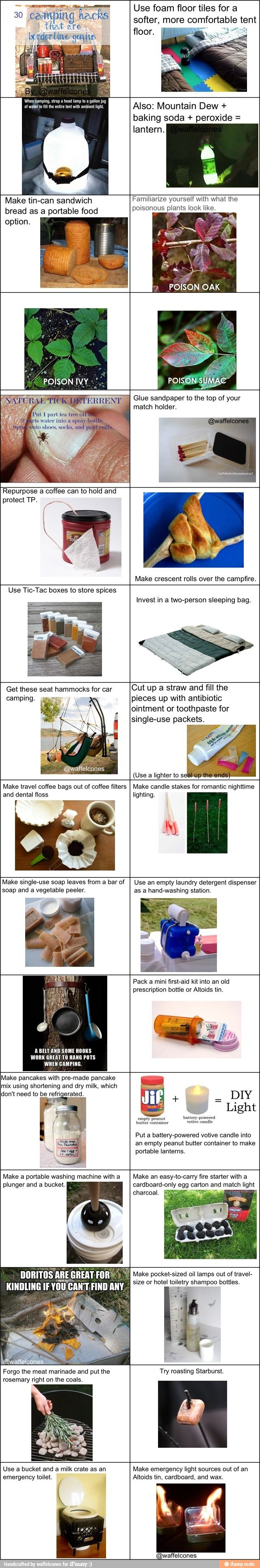 Great camping hacks