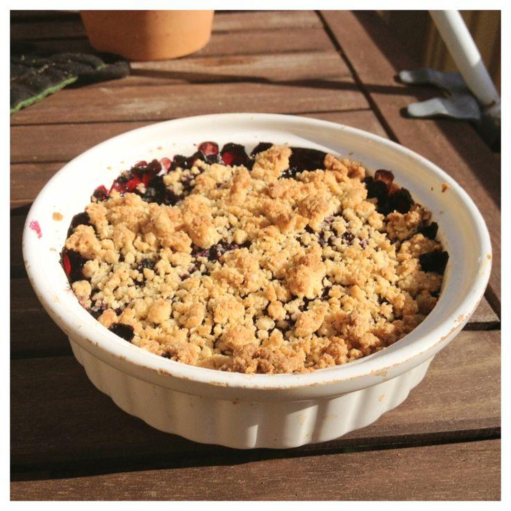 smulpaj med blåbär (glutenfri, mjölkfri och sockerfri