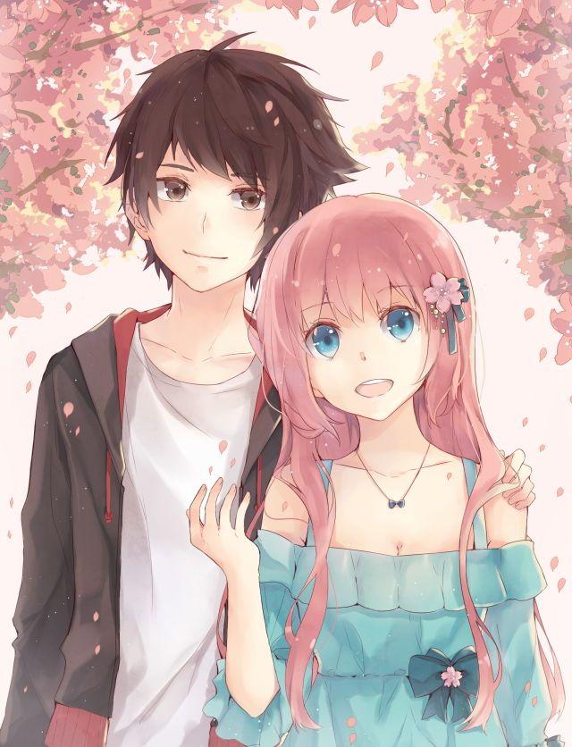 Аниме картинки любовь милые