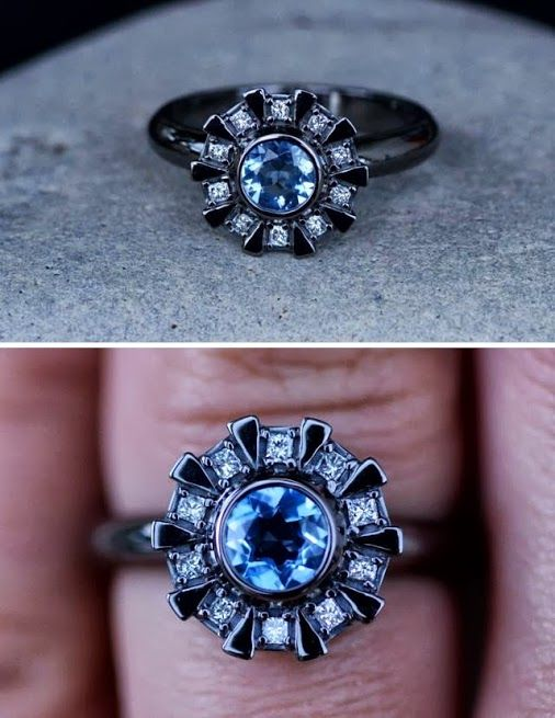 Arc reactor engagement ring. If someone proposed to me with that I would keep them forever for this is the mark of a nerd.