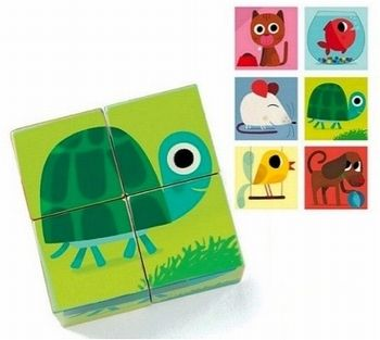 Wooden animal puzzle from kidsdinge - simple modern kids toys