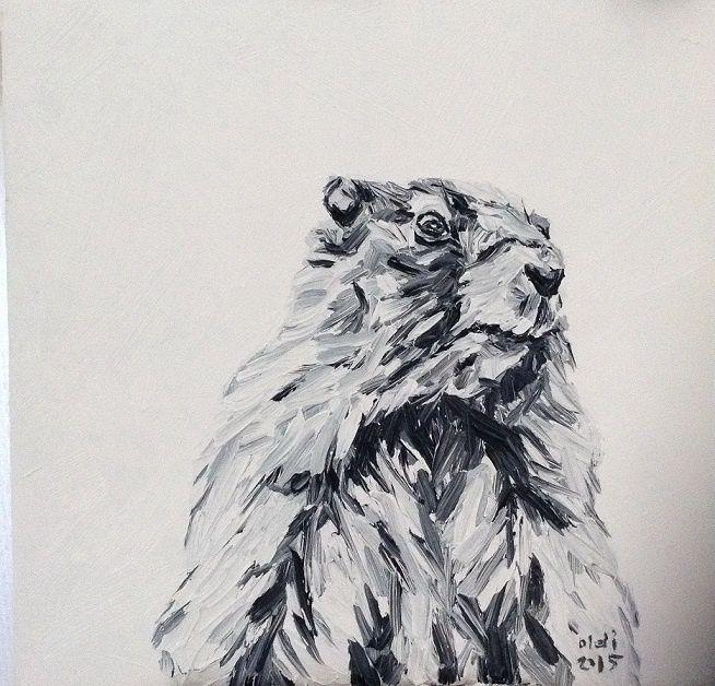 Oldi's Portfolio - 2015 #oldiart #oil #canvas #painting  #groundhog