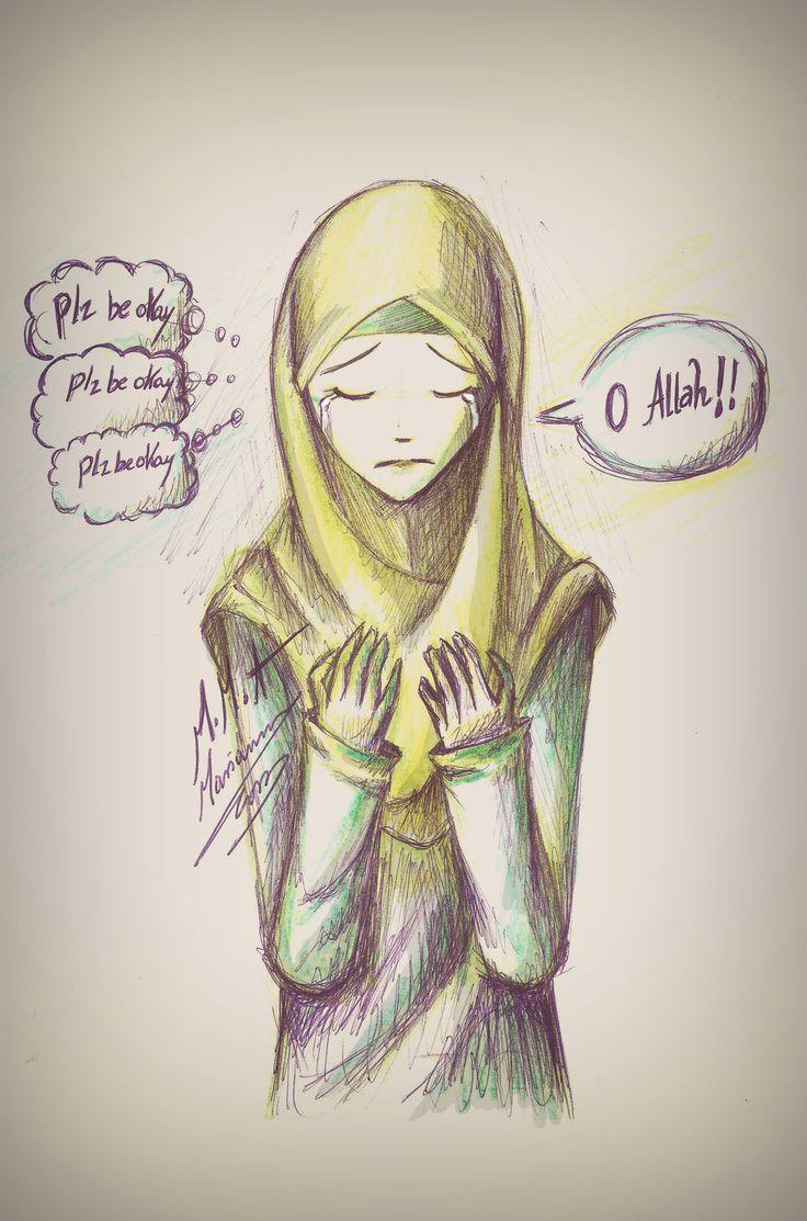 Worried Muslimah Making Dua Islam Pinterest