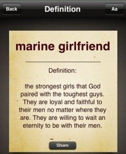To all Marines' spouses! #usmc Im not Female. But, Yes i am a Marine spouce. & i like the pin{~:                                                                                                                                                                                 More