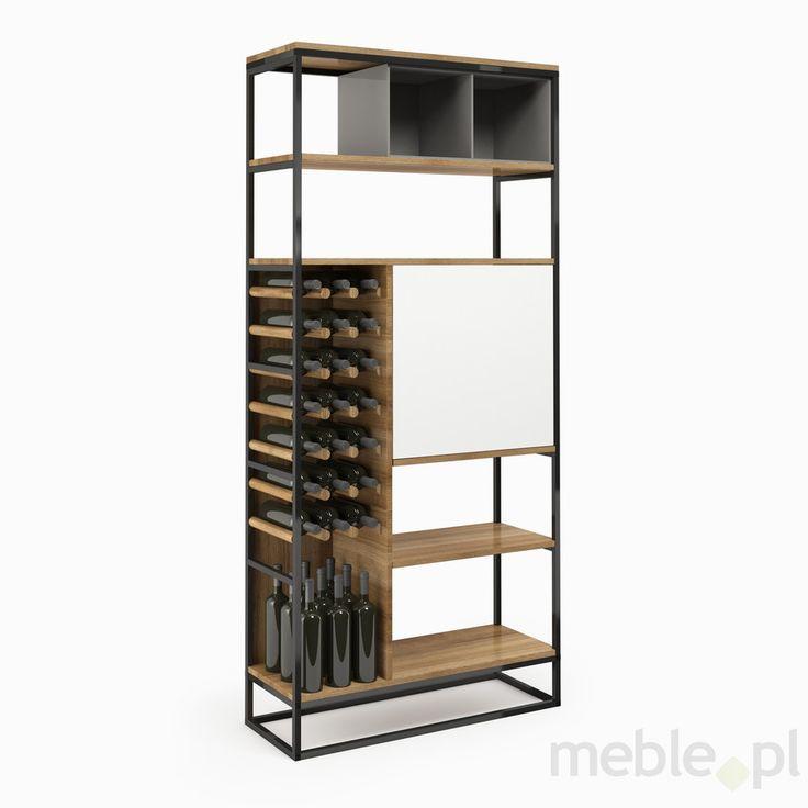 Regał na wina CONNECT STEEL duży, Uniqform - Meble