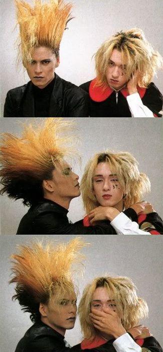 この画像、ほかにもあったんだー!!魔王と天使。二人ともかわいい。今井寿。櫻井敦司。