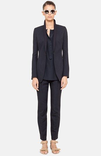 Akris punto Perforated Jacket, Blouse & Crop Pants | Nordstrom. Please let me look this cool at work.