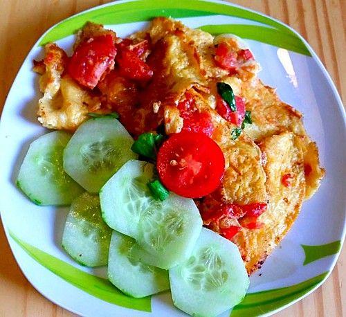Tomaten-Omlett mit Mozzarella