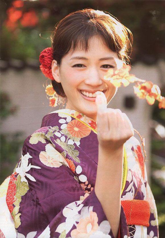 Haruka Ayase / Japanese actress. kimono.