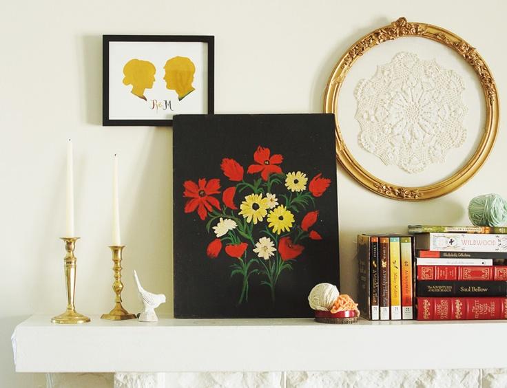 a lovely shelf vignette via Dear Friend,: Mantel Inspiration, Art Illustrations, Inspirational Spaces, Silhouette, Artistic Inspiration, Mantle, Fireplace, Showroom Decorations