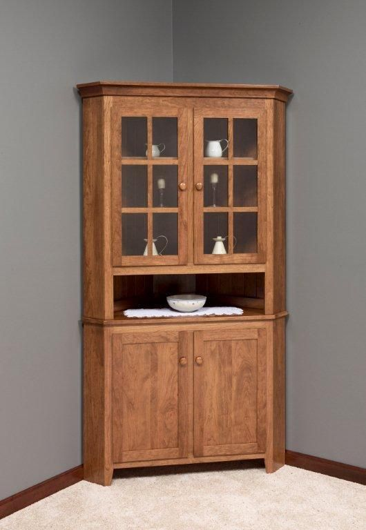 amish shaker corner hutch - Dining Room Corner Hutch