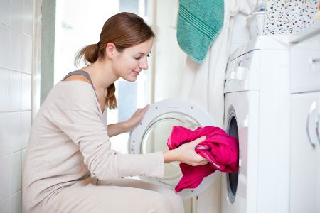 If you dry with an electric tumble dryer, water vapor in your home isn't usually a problem: most dryers either vent the damp air out through a hose or condense it back to water that drips away down the drain. But the drawback is the huge amount of electricity they use. (Image taken from: How Do Clothes Dryers and Dryer Vents Work? | Reminder Box)