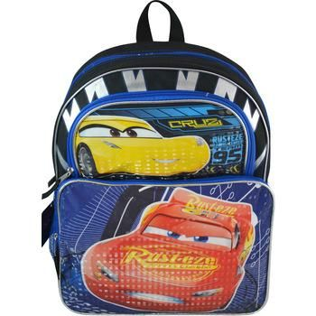 "Wholesale Backpacks Cars 3 16"" Cargo Backpacks - 48 Units"