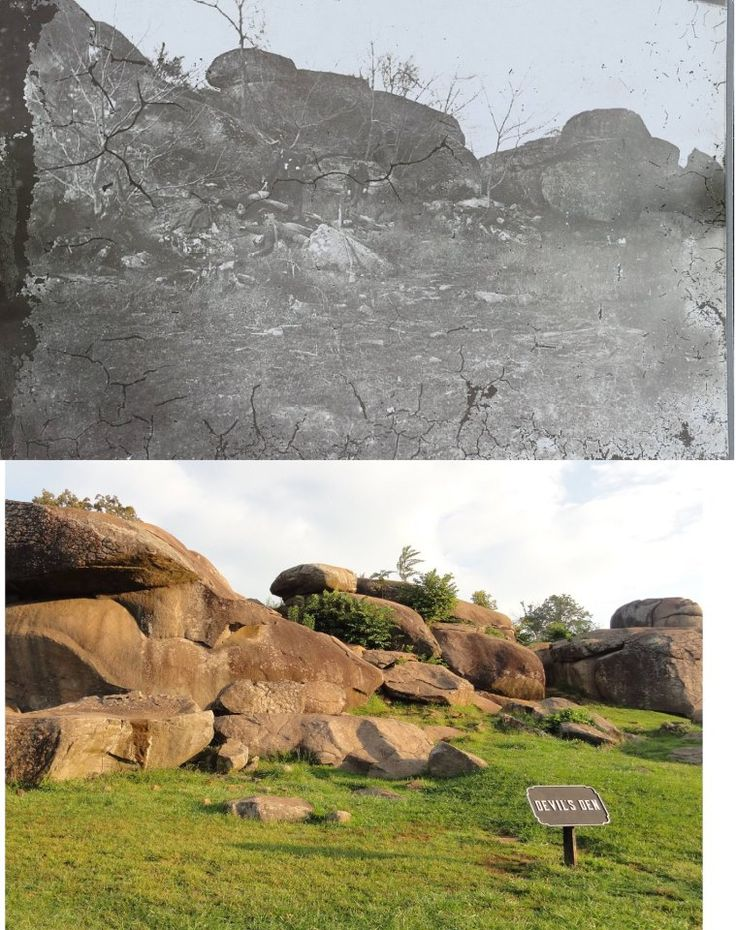 The Devil's Den with Extras Nov. 1863 THEN & NOW