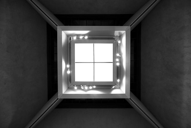 #square #ceiling #lights #abstract