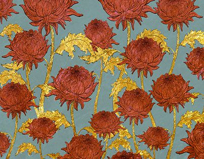 "chrysanthemums field by Vera Lazzarini  Check out new work on my @Behance portfolio: ""Chrysanthemums field"" http://be.net/gallery/57110803/Chrysanthemums-field"