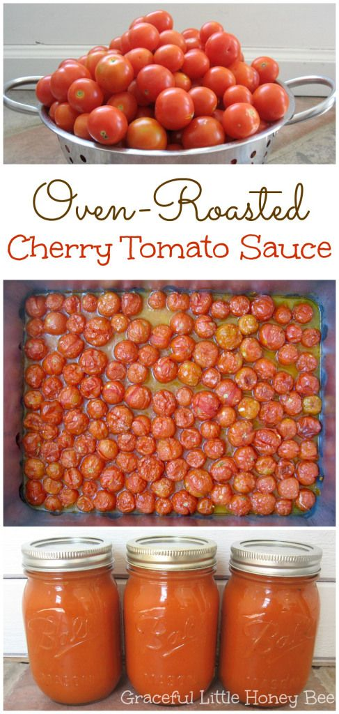 Try this Freezer-Friendly Oven-Roasted Cherry Tomato Sauce for a fast and easy way to preserve your tomatoes on gracefullittlehoneybee.com