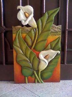 cuadros de girasoles tallados en madera - Buscar con Google - Поиск в Google