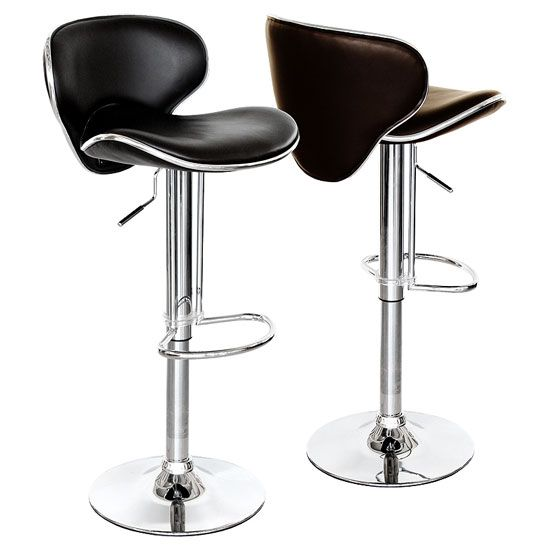 Dive into grace and charm of this pair of 2 black faux #leather #barstool  sc 1 st  Pinterest & 112 best Bar stools And Kitchen Bar Stools images on Pinterest ... islam-shia.org