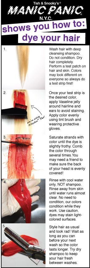 Pin now, read later! How to dye your hair with MANIC PANIC!