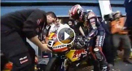Begini Hebohnya Pit Marquez saat Crash