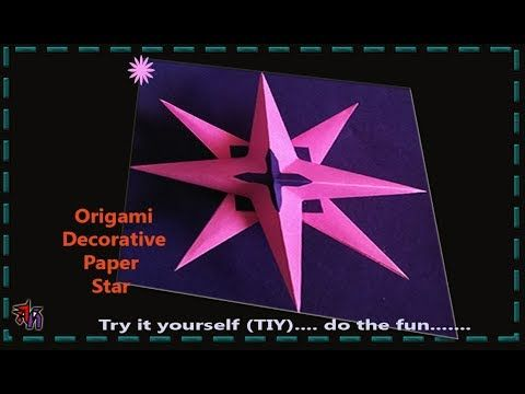 Very easy and beautiful paper star by Art House | How to make paper star...