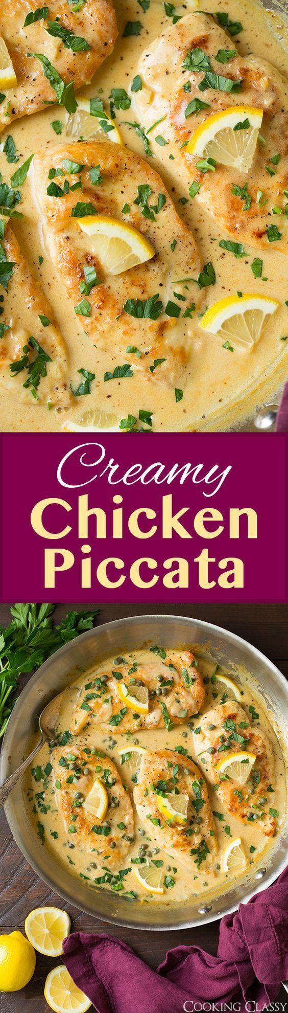 Creamy Chicken Piccata - this is my FAVORITE chicken piccata recipe! Unbelievably delicious! Love the addition of cream.: