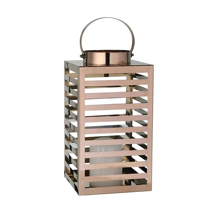 greemotion 125038 Lantern metal with LED candle, 16 x 16 x 30 cm, copper * Click on the image for additional details. #GardenDecor