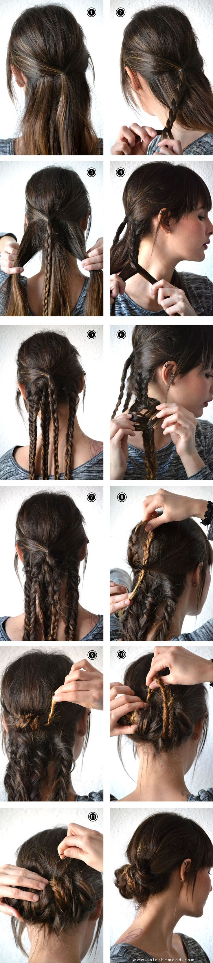 Wrapped Braided Updo - I would probably have to make more than 4 braids though with my thick hair.