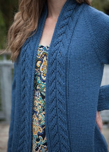Top-Down Cardigan Knitting Pattern - No-Sew Sweater Pattern - Chic Knits Edin…
