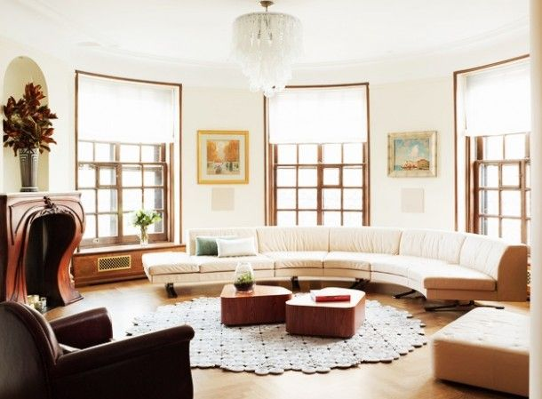 Amazing Round Sofa Design Ideas for Circular Living Room : Inspirational Interior and Exterior Home Design Ideas – TheMakaroni.com