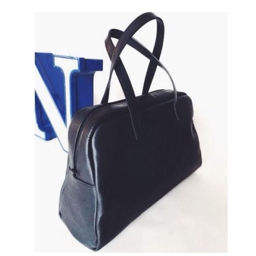 Elita. #bowling #bag #leather #handmade #italy #black #blue #n