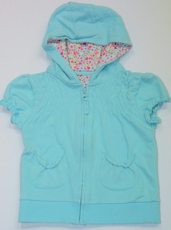 Bluza na krótki rękaw z kaputrem - rozmiar 98