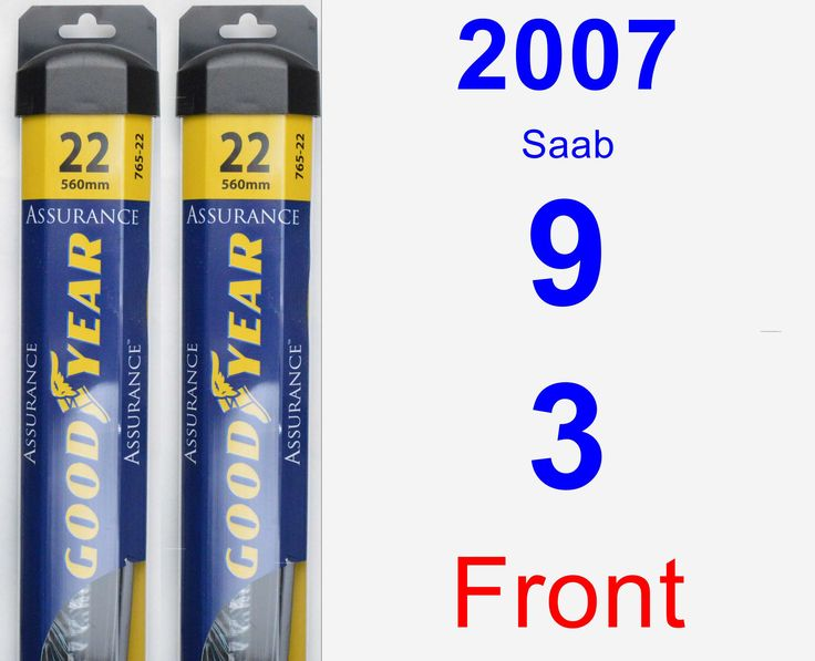 Front Wiper Blade Pack for 2007 Saab 9-3 - Assurance