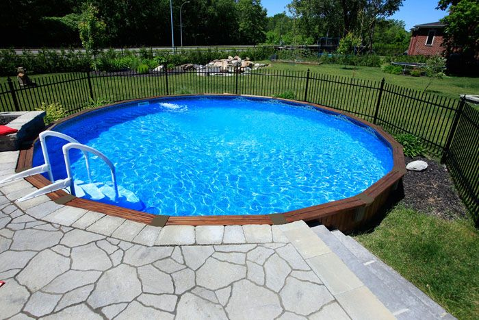 Semi above ground pool ideas semi in ground pools cedar - Semi above ground pool ideas ...