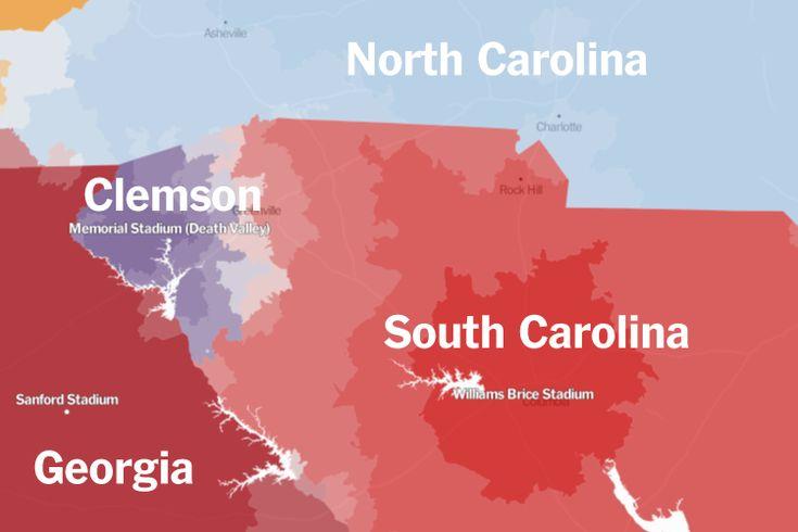 clemson-south-carolina college football loyalties