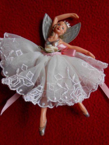1950s dibro ballerina fairy vintage kitsch retro christmas for Ballerina tree decoration