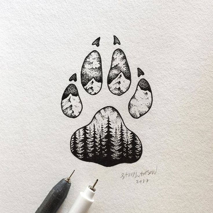 Kleine Pfote. #art #illustration #wolf – Tattoo – #Art #Illustration #Lil