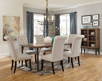 Tripton Rectangular Dining Room Table By Ashley Furniutre   Love This Fresh  Vintage Casual Look,