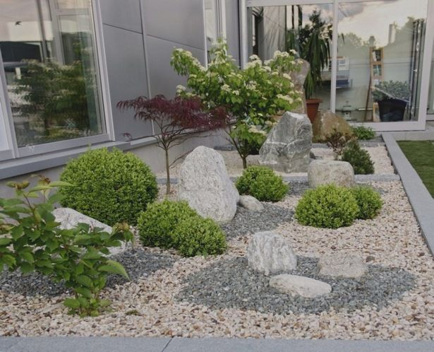 Gartengestaltung Mit Steinen Und Kies Bilder
