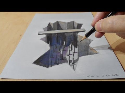 how to draw a hole in the paper