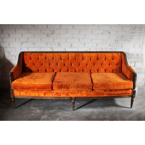 Fall Vintage Orange Velvet Tufted Sofa Couch SALE     45    liked on. Best 20  Couch sale ideas on Pinterest   Interior design living