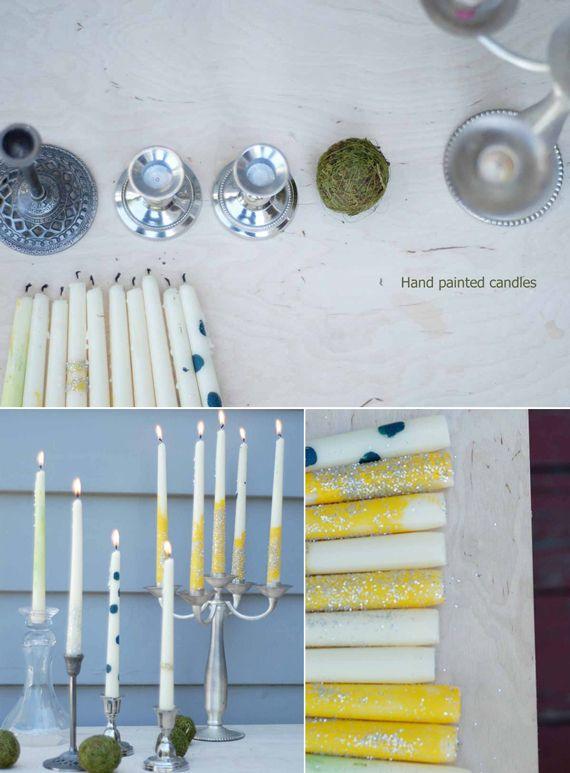 Customise white candles !