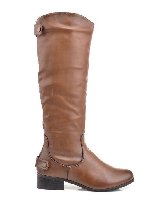 Zateplené dámske čižmy - brown