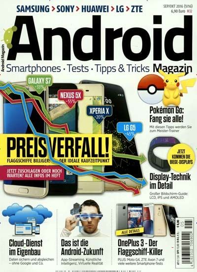 Pokemon Go: Fang sie alle! Gefunden in: Android Magazin, Nr. 5/2016