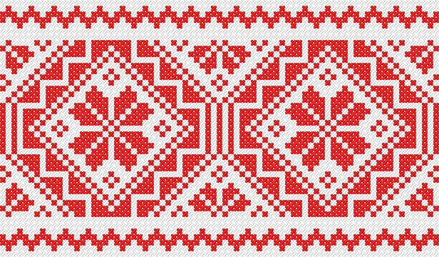 Hungarian Ethnographic museum - kitchen linen embroidery pattern