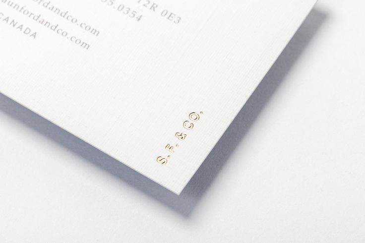 Logotype and business card with block foil detail designed by Savvy for bespoke furniture design firm Shaun Ford & Co.