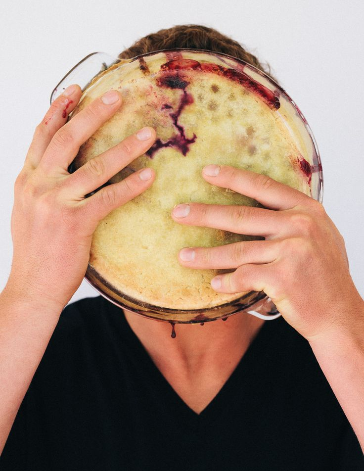 ... Pie on his face. Shot by Shea Evans.: Mixed Berries Pies, Cherries